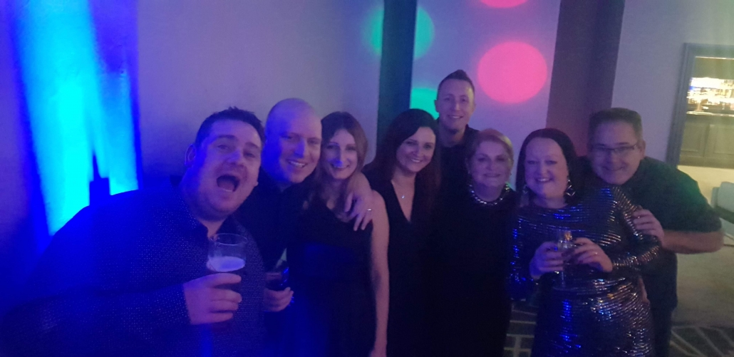 Some of the U7s parents at the christmas party