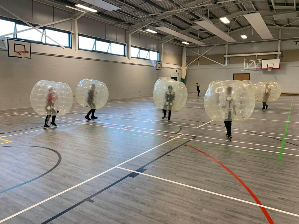 U10s players ready for some zorbing football