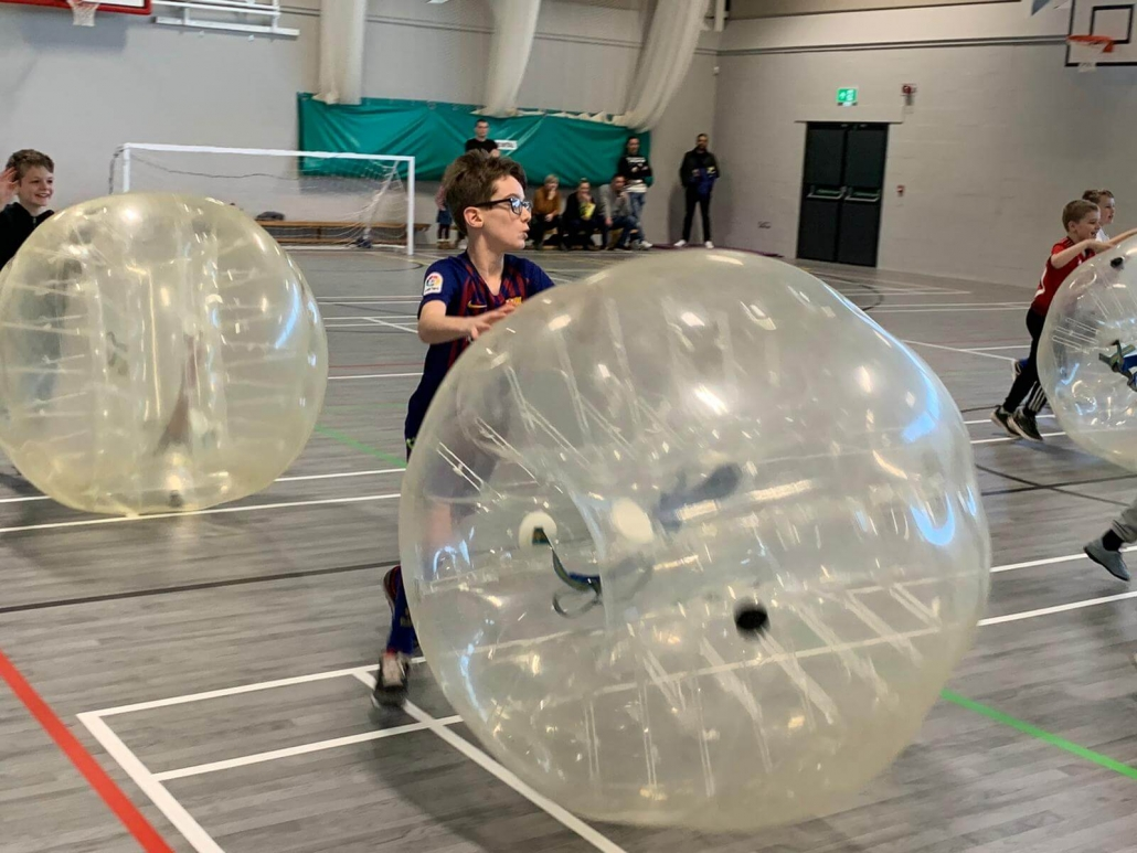 Rolling the zorb ball as quickly as possible