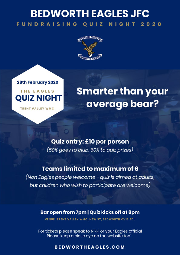 Bedworth Eagles quiz night